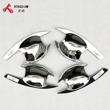 for Mitsubishi Triton L200 2016 2018 Abs Chrome Door Handle Bowl  Cover Trim Car Styling Sticker Atuo Accessories 4 Pcs
