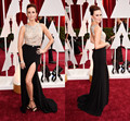 87th Oscars Keltie Knight Black A Line Celebrity Dress Backless Side Slit Red Carpet Sleeveless Floor Length Celebrity Dresses