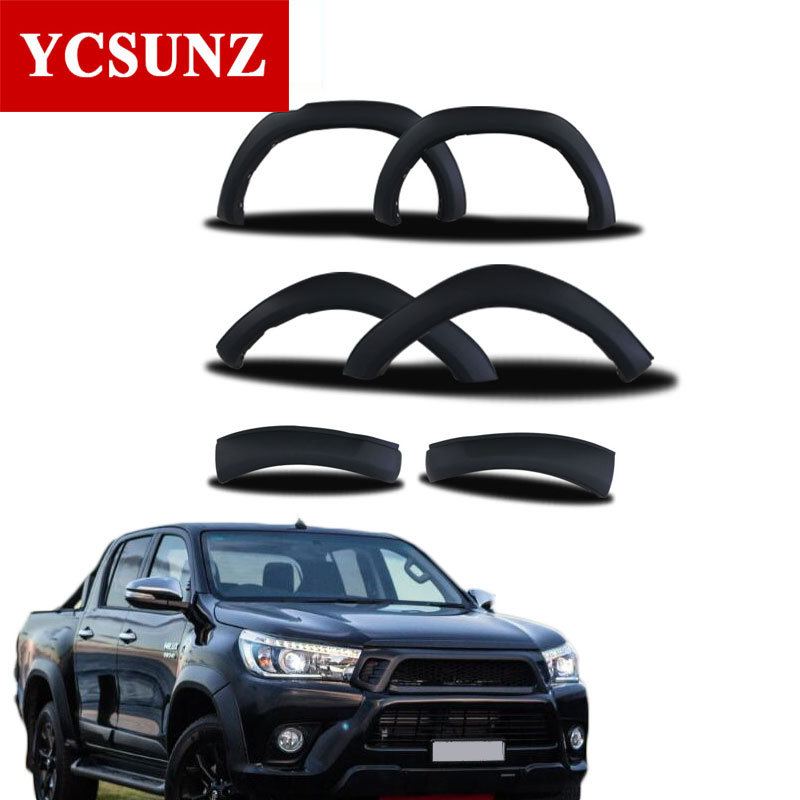 Wheel Arch Fender Flares Accessories Black Mudguards For Toyota Hilux Revo 2016 2017 2018 Double Cabin