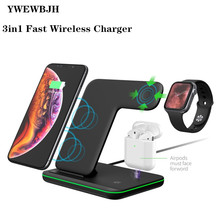 YWWBJH Fast Wireless Charger  3in1 Charging Dock Station Qi 10W for iPhone X XS Max XR 8 For AirPods iphone Watch