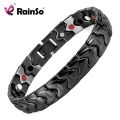 Healing Magnetic Bracelet IP Black Plating Stainless Steel Bracelet With Magnets Health Men Magnetic Bracelets&Bangles