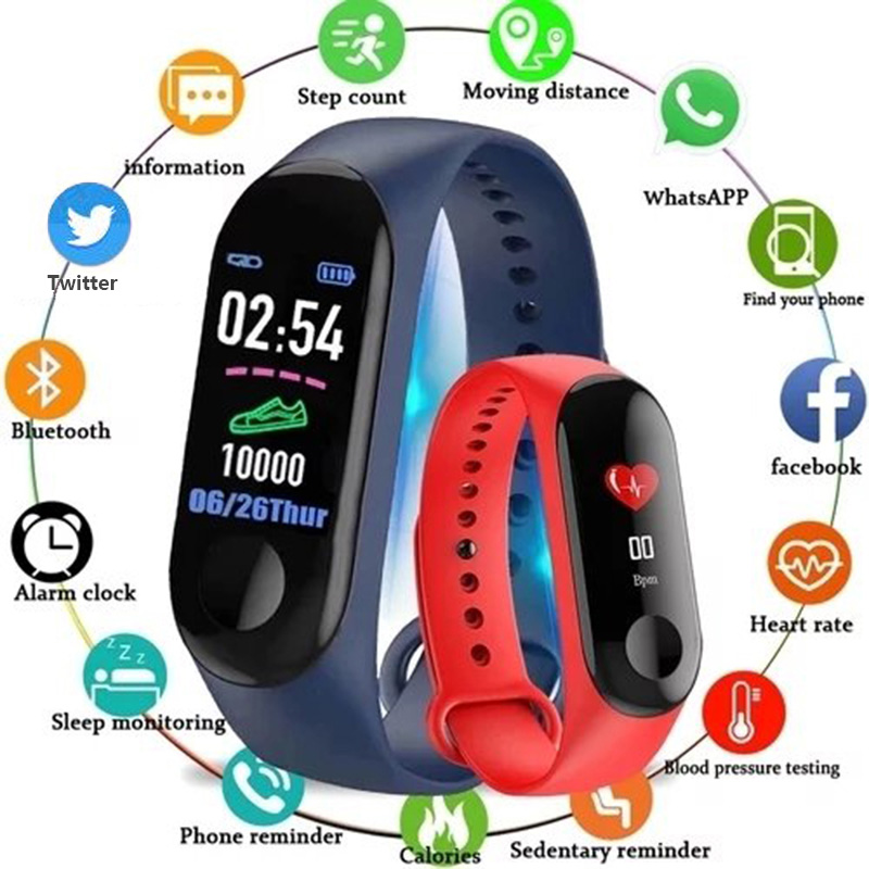 Sensible Bracelet Sports activities Health Blood Strain / Blood Oxygen Monitoring Sensible Wristband For Android Ios Cellphone Xiaomi Pk Mi Band 3