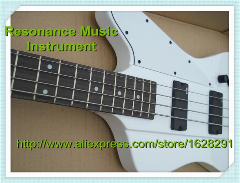 Nouvelle arrivée modèle classique Firebird basse guitare 4 cordes blanc finition noir matériel et basse gauche disponible