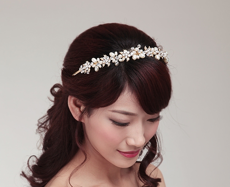 Cdet 1x Women Headband Rhinestone Hoop Hairband Hairpiece Headdress Bridal Party Wedding Hair Accessory
