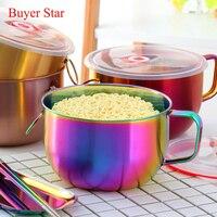 Tigela de macarrão multifuncional com alça  tigela para salada  sopa  pote e macarrão instantâneo  recipiente para comida  1 peça