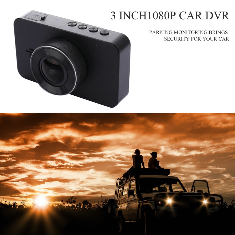 New 3 Inch DVR 160 Degree Wide Angle Dash Cam Dual Lens 1080P WIFI Car Digital Video Recorder With Night Vision Function