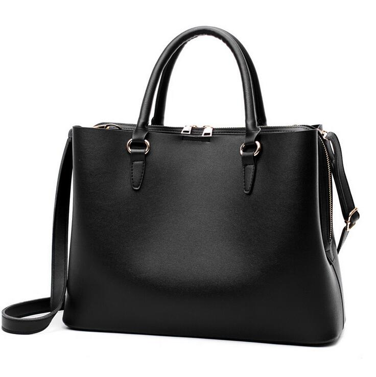 RUILANG New Women PU Leather Handbags Ladies Office Fashion Shoulder Bags Female Designer Tote Bag Large High Quality Hand Bag