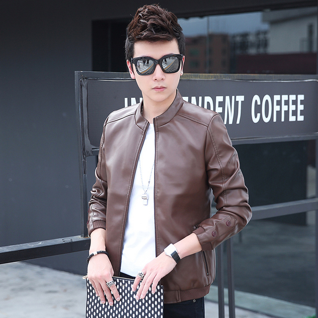 European Style 2016 Spring and Autumn New Arrival Man Fashion Bomber Jacket, Men PU leather jacket Coats Casual Baseball Jackets