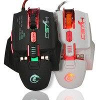 전문 유선 게임 마우스 7 버튼 4000 인치 당 점 Led USB 게이머 Mause 마우스 프로 게이머 컴퓨터 위치 인체 공학적 디자