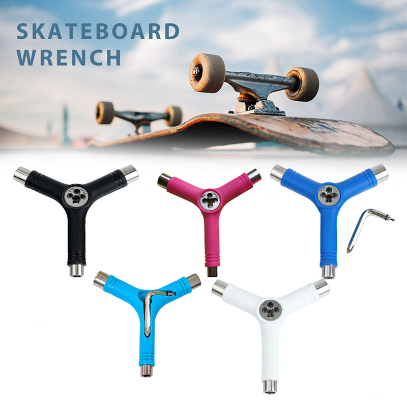 Newly Skateboard Repair Y Shape Tool Portable Multifunctional Accessory With L Type Wrench 19ing