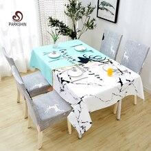 Parkshin 2019 החדש נורדי צבי מפת שולחן בית מטבח מלבן עמיד למים מפות שולחן המפלגה אירועים שולחן אוכל כיסוי 4 גודל