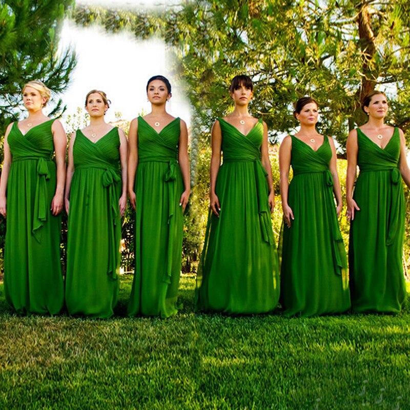 Vestidos para damas de honor verde