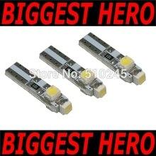 100XFree kargo araba oto LED T5 3 led smd 3528 kama LED ışık ampul lamba 3SMD beyaz/yeşil/mavi/kırmızı/sarı