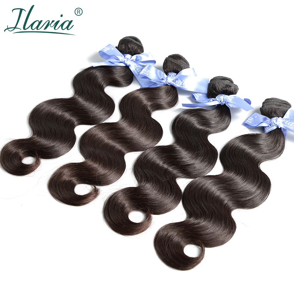 ILARIA HAIR 7A Malaysian Body Wave Virgin Hair 4 Bundles Unprocessed Human Hair Weave Bundles Natural Color Shipping Free