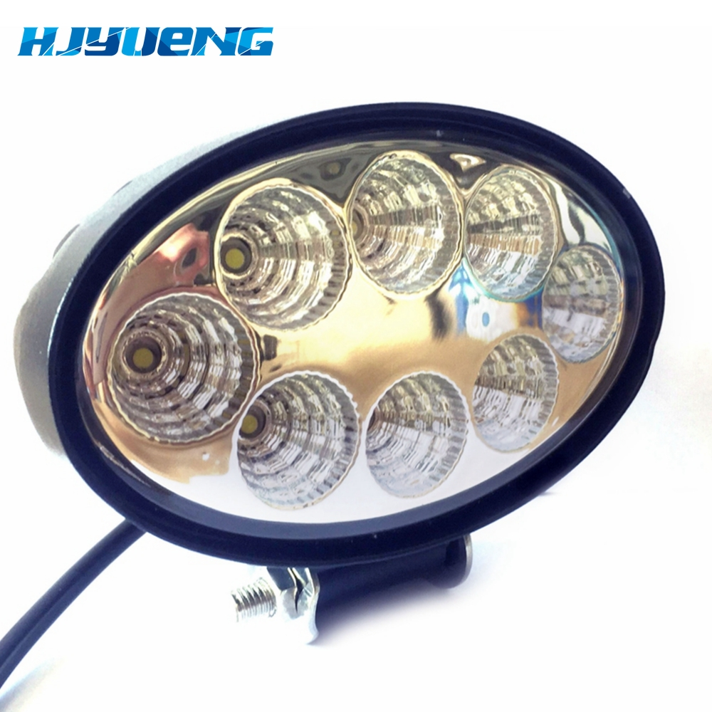 Image 4 - 5.5 inch 12V 24V 24W off road Flood Oval LED Work Light Lamp for car Truck Vehicle Driving Boat Led Flood Light-in Light Bar/Work Light from Automobiles & Motorcycles