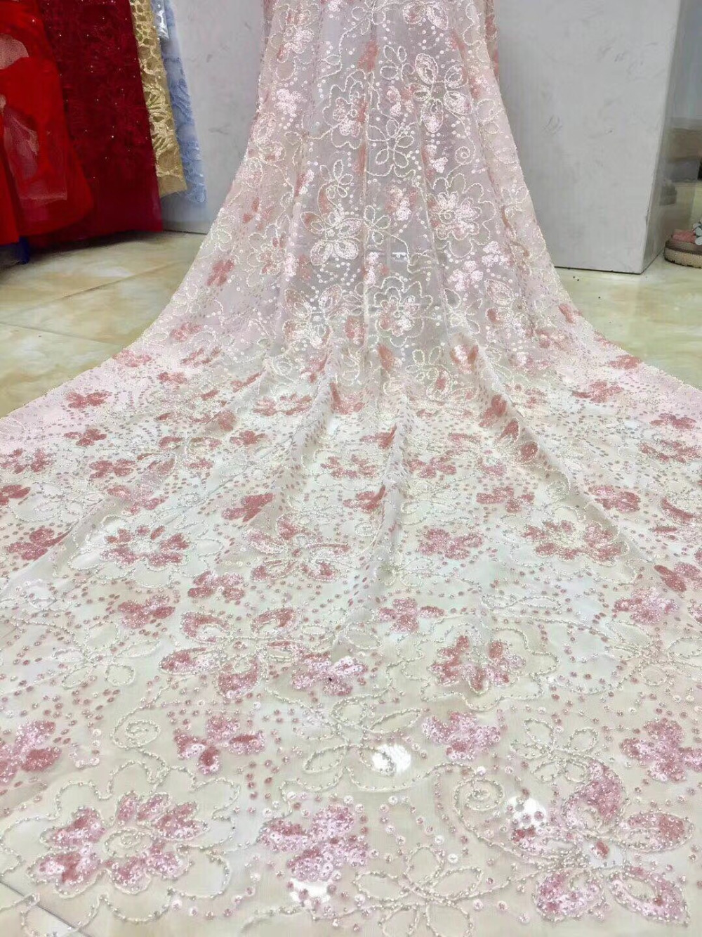 French Net Lace Fabric 2018 Latest African Lace Fabric With Embroidery Mesh Tulle Lace Fabric High quality Nigerian LaceFrench Net Lace Fabric 2018 Latest African Lace Fabric With Embroidery Mesh Tulle Lace Fabric High quality Nigerian Lace
