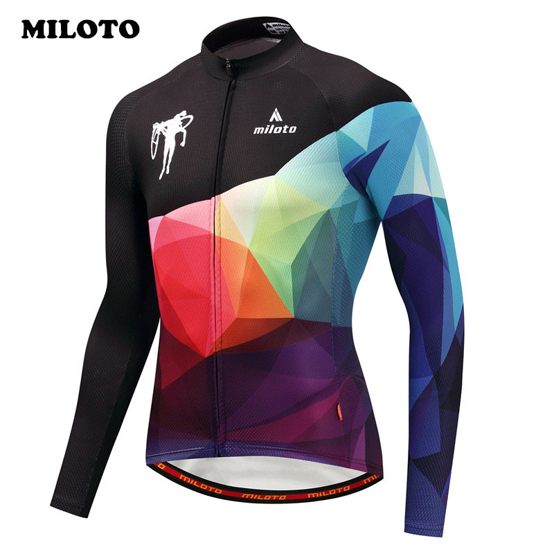 цены Miloto Bike Team pro Cycling Jersey Long Sleeve Men Ropa Ciclismo mtb Bicycle Jersey Autumn Cycling Clothing Maillot Ciclismo