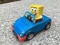 Оригинал Viacom Губка Боб 9 см ПВХ Откат Игрушечный Автомобиль Новый Нет Пакет