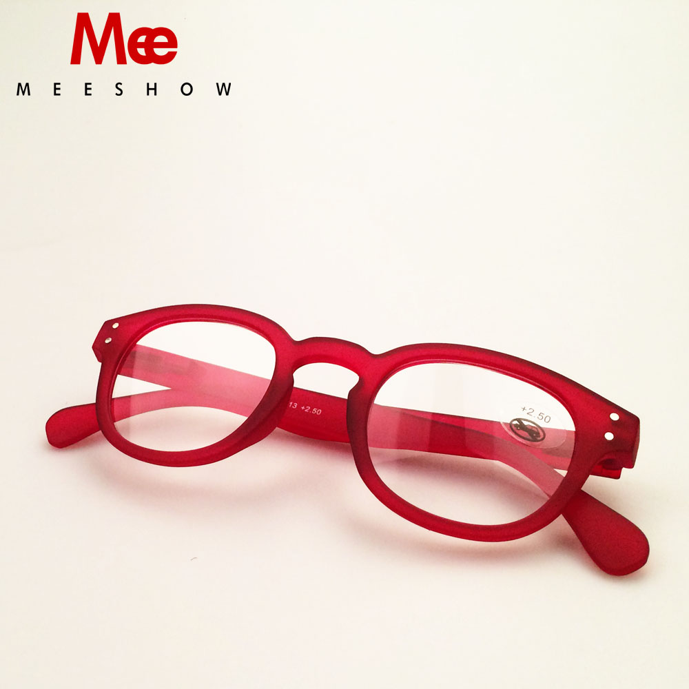 2019 Trend Reading Glasses Retro Europe Style Quality Men Women Eye Glasses With Flex Drop Hipping Pouch Included 1513 Red image