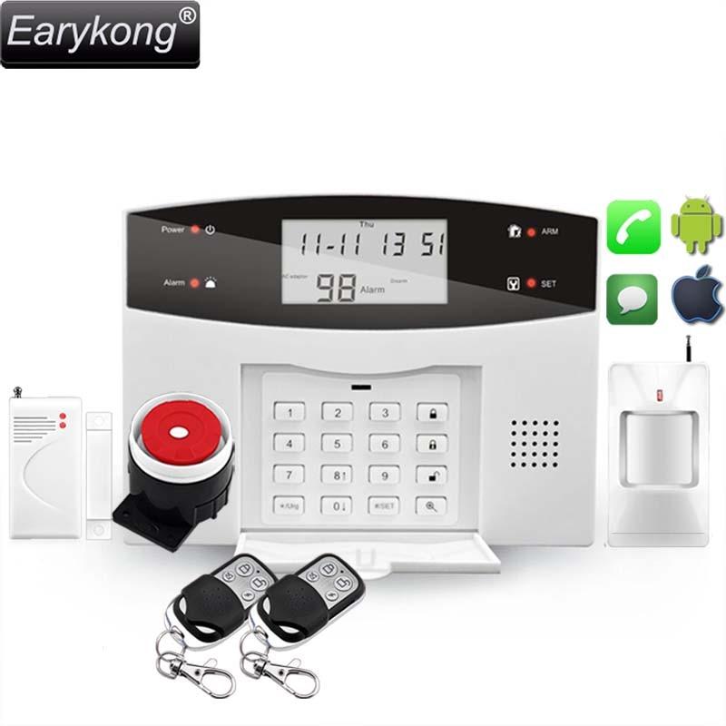 Guide de Menu vocal du système d'alarme GSM anglais/russe/espagnol/français/portugais, avec clavier, facile à utiliser, protégez votre maison,