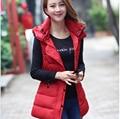 2016 корейских Новый стиль мода женщин зимние Ma3 jia3 элегантный капюшоном толстый теплый жилет женщин тонкий большой ярдов отдыха жилет пальто G2242