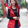 2016 Korean New Style Fashion Women Winter Ma3 jia3 Elegant Hooded Thick Warm Vest Women Slim Big yards Leisure Vest Coat G2242