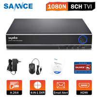 SANNCE DVR Recorder 4CH 4 IN 1 1080N CCTV DVR Security System H.264 HDMI P2P Video cctv system for Secuirty Camera Onvif HDD