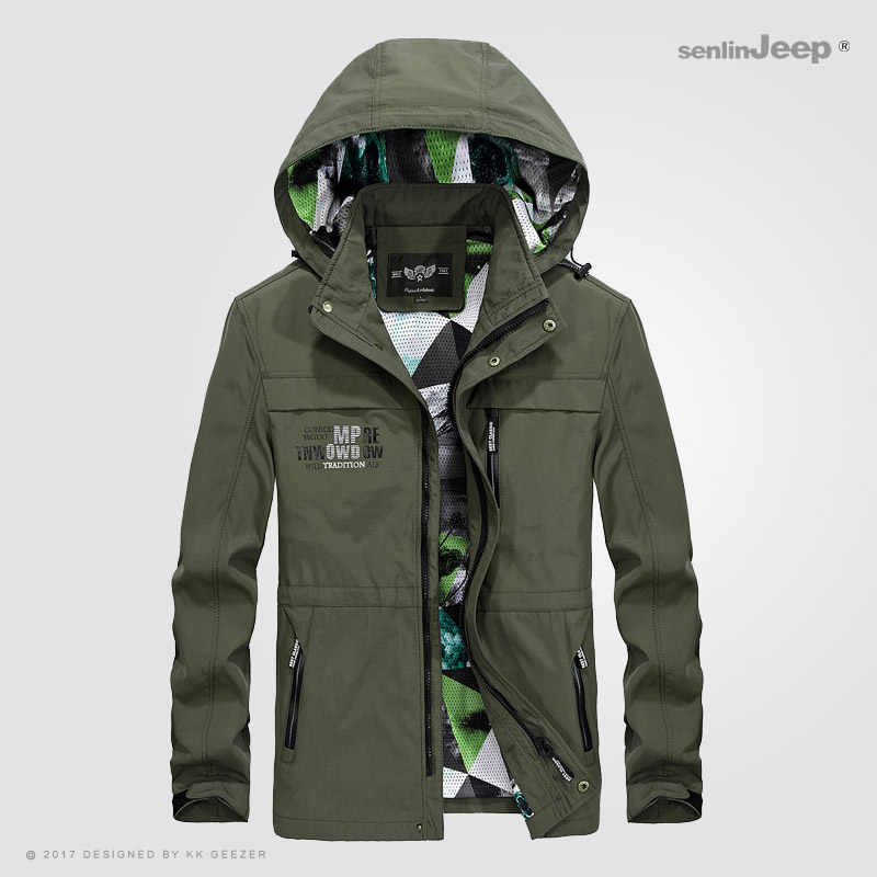 Heren Jassen Lente Herfst Waterdichte Jas Bomber Mannelijke Windjack Militaire Casual Hooded Camouflage Brand Hoge Kwaliteit