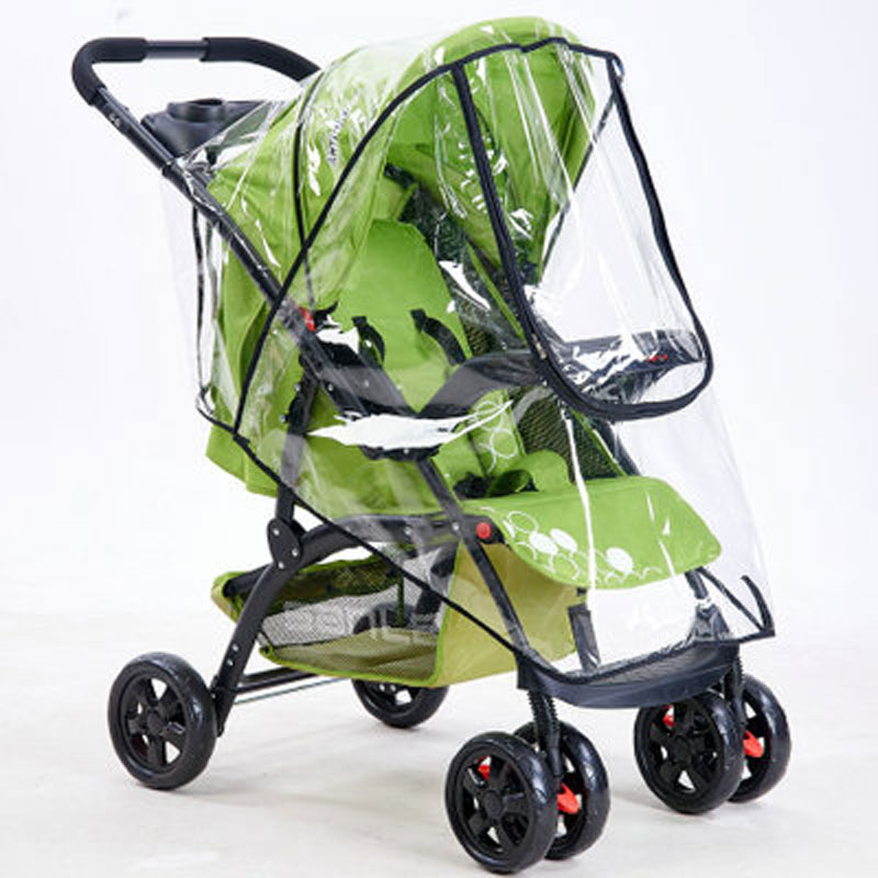 Universal Buggy Pushchair Transparent Rain Cover Baby Stroller Pram