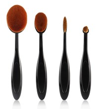 4 Pcs/2Pcs Pro Oval Face Powder Foundation Eye Shadow Blusher Toothbrush Shape Brushes Foundation Cosmetic Makeup Tools