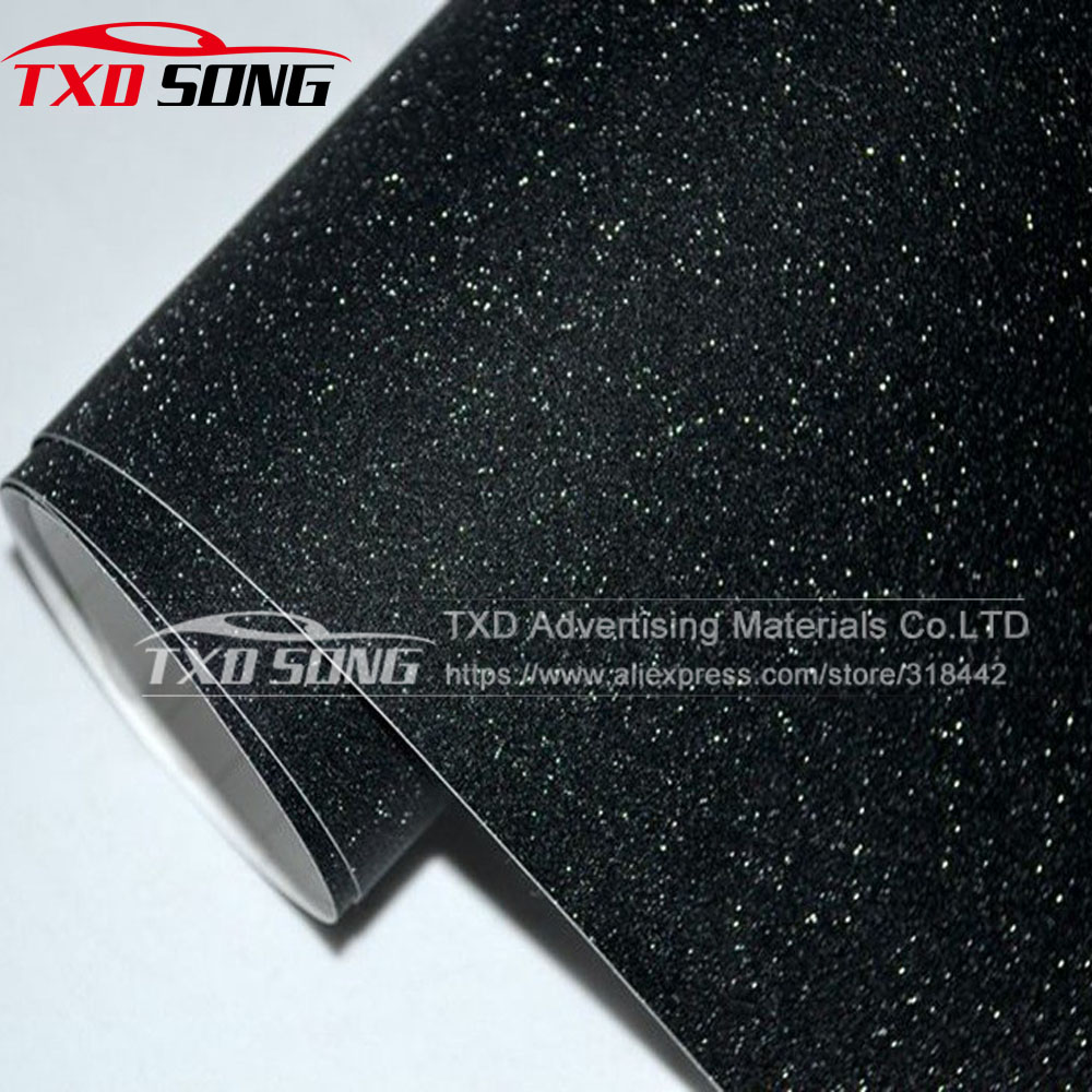 Black Frost Glitter Diamond Vinyl Film Matt Glitter Car