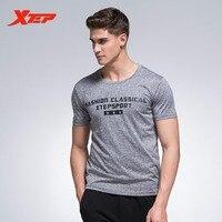 Xtep marca clásica hombres de manga corta al aire libre transpirable deporte Correr escalada senderismo t-shirt 883129019081