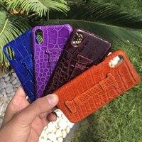 Новый 6 видов цветов для iphone X 5,8 ''задняя крышка натуральный крокодиловой кожи живота из натуральной кожи чехол для телефона для iphone X с ремеш