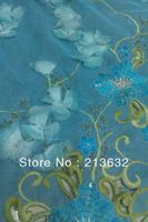 France curtains wedding blouse wedding decoration hot sky blue organza polyester tulle roll embroidery lace fabric patch work