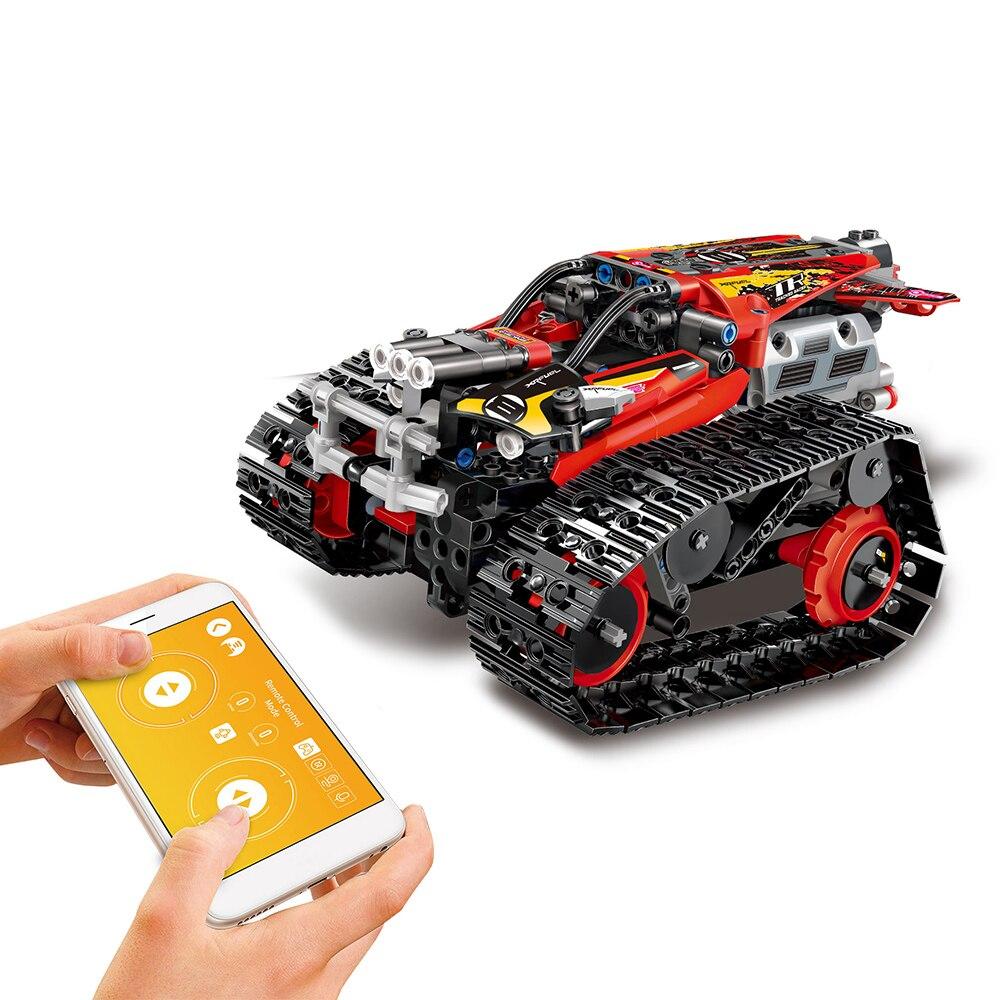 Diy rc 탱크 2.4 ghz rc 빌딩 블록 자동차 diy 빌딩 키트 장난감 고품질 rc 탱크 rc 스턴트 자동차 app rc 센서 소년 키즈 선물-에서RC 탱크부터 완구 & 취미 의  그룹 1