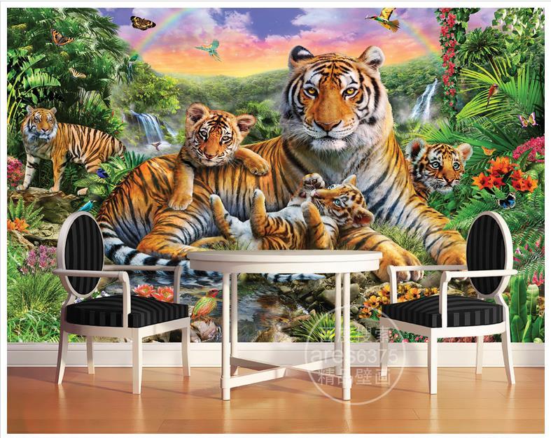 Online get cheap waterfall mural alibaba for Cheap mural wallpaper