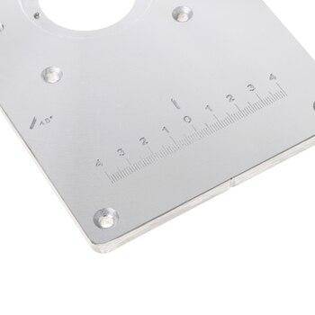 2018 nueva placa de inserción de mesa de enrutador de aluminio con tornillos de 4 anillos para bancos de carpintería soporte de envío directo