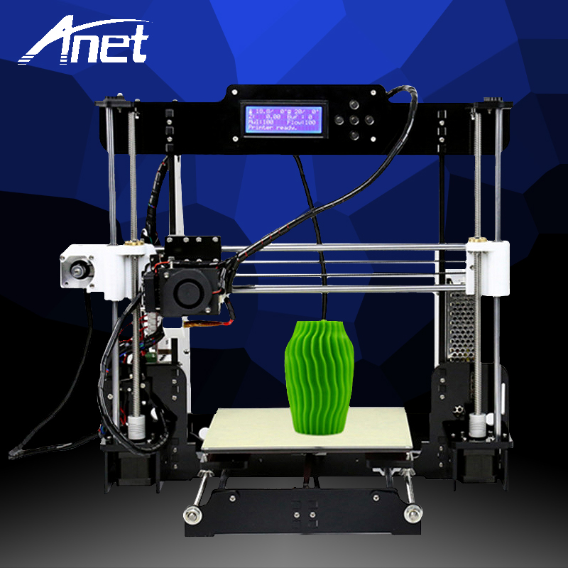 ANET A8 3d printer Reprap Prusa i3 precision 2 Kit DIY Easy Assemble DIY Kit+Hotbed LCD Screen 8GB SD Card Send From Moscow black anet a2 reprap prusa i3 3d printer aluminium metal frame lcd display pla 8g sd card as gift fast shipment from moscow