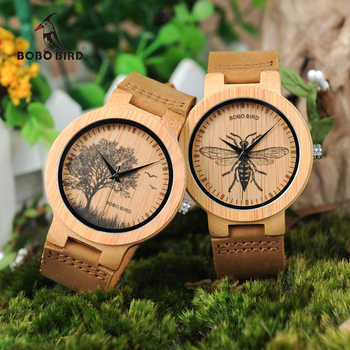 BOBO BIRD Watch Men Wooden Lifelike Print Dial Face Quartz Watches Fashion 3D Visual Timepieces as Gift relogio masculino - DISCOUNT ITEM  40% OFF All Category