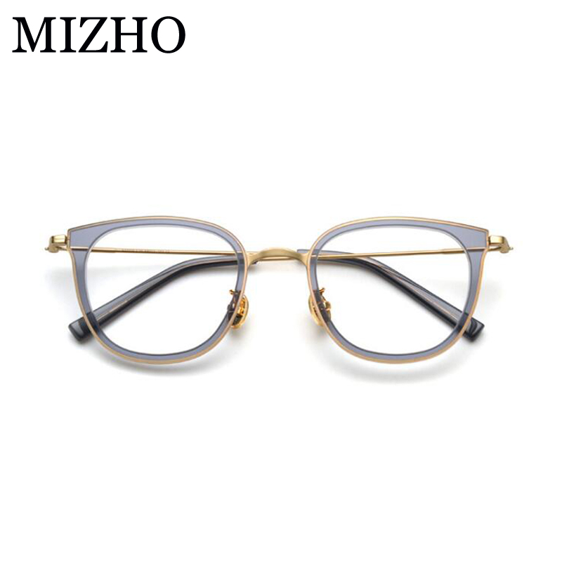 9a3ee2a49d MIZHO Classic Copper Oval Eyewear Women Optical Glasses Frame Acetat High  Quality Vintage Star Clear Eyeglasses Mujer 2019