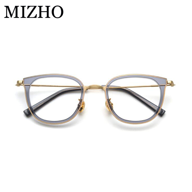 befaebcc4f MIZHO Classic Copper Oval Eyewear Women Optical Glasses Frame Acetat High  Quality Vintage Star Clear Eyeglasses Mujer 2019