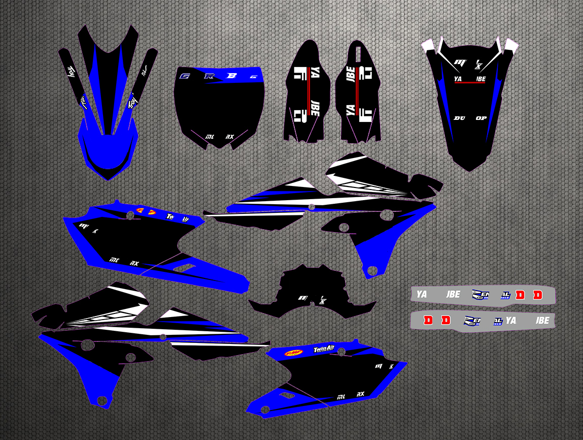 Motorcycle Graphic Stickers Kit Decal For Yamaha YZF 250 450 YZF250 YZ250F YZ450F YZF450 2014-2017 / YZ250FX 2015 2016 2017 2018