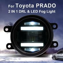 купить For Toyota PRADO fog lights+LED DRL+turn signal lights Car Styling LED Daytime Running Lights LED fog lamps по цене 6350.29 рублей