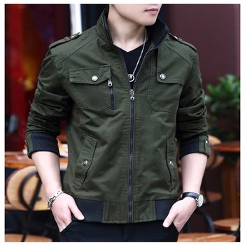 Top Quality New Mens Stand Collar Thicken Coats Fashion Man Military Pockets Zip Jackets Boys Male Warm Fur Lining Casual Jacket