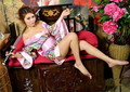 Colorful Japanese kimono Sexy lingerie COSPLAY women costumes Sex toys Sexy underwear Role play Ladies pajamas