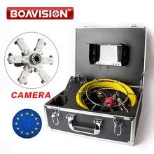 Змея промышленный эндоскоп видео канал труба Инспекционная камера CMOS 1000TVL 12 шт. белые светодио дный фонари канализационная камера 7 дюймов ЖК-монитор