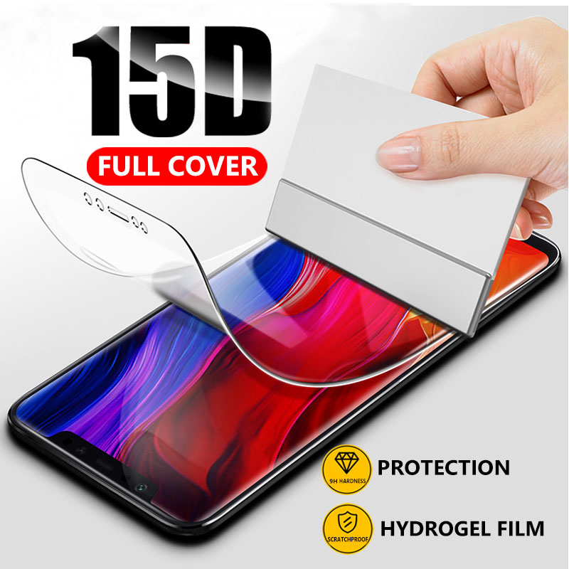 15D Hydrogel Film Full Cover For Xiaomi Redmi Note 7 K20 5 6 Pro Screen Protector Film For Redmi K20 Pro GO 7A 6A Not Glass