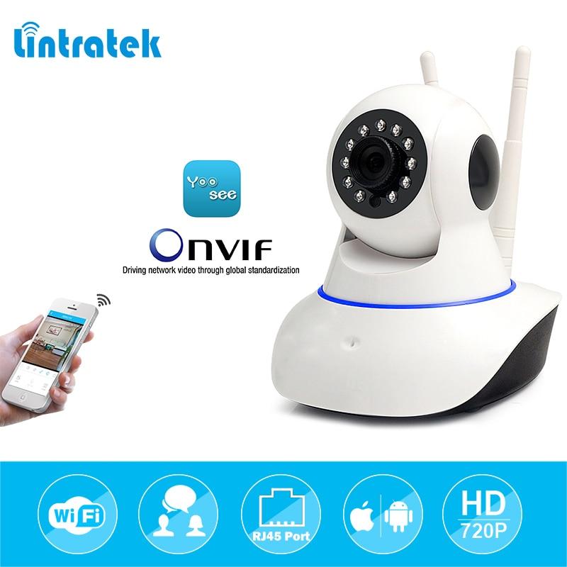 lintratek HD 720P Wireless WiFi Yoosee IP Home Security Camera Home Surveillance Camera IPcam Night Vision Camara Dual Antennas
