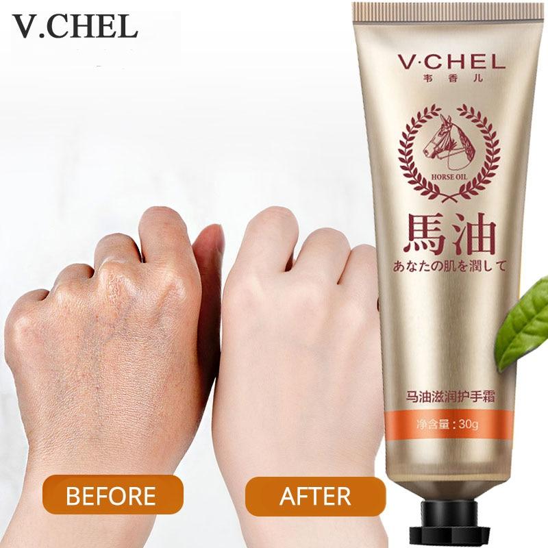 Natural Horse Oil Moisturizing Hand Cream Hydrating Exfoliate for Winter Hand Care Nourishing Anti Aging Skin Care