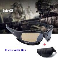 Daisy X7 Army Goggles Sunglasses Men Military Sun Glasses Male 4 Lens Kit For Men S